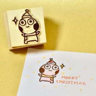Christmas limited Christmas ball handmade rubber stamp