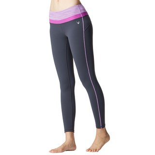 [MACACA] small hip slender yogi nine pants - ATE7542 iron gray / purple satin
