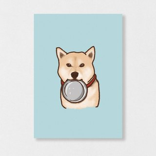 """Shiba Inu - bite bowl"" Planet Flies / Shiba Inu / wool kids / illustration postcards / Hands Bazaar"