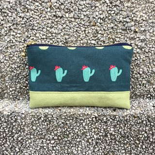 Cactus - suede purse pocket