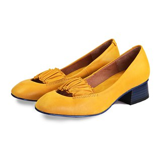 Ballerina W1070 Yellow Leather Pumps