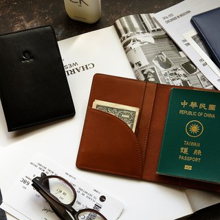 [New] Mojito Mosido Leather Passport Holder / Passport Cover - Camel