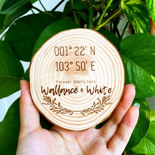 Personalized New Home Wooden Coaster. Wedding Gift. Geography Housewarming Gift.