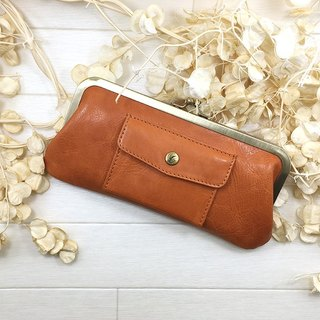 168OR long wallet pocket cowhide large Long wallet / pouch / pocket / cow leather / big / unisex / cool / fashionable / popular wrapping / packaging / bag / leather / large / neutral / cold / old / fashionable