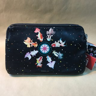 Goldfish universe - leather clutch (Minerva X Lv Zhiwen)