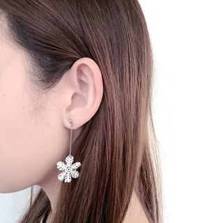 Winter series - Hand Drawn -Snowflake - earrings