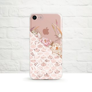 Peony Garden - Dropping transparent soft shell - iPhone X, iPhone 8, iPhone 7, iPhone 7 plus, iPhone 6, iPhone SE, Samsung