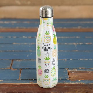 Stainless steel insulation / cold water bottle - Live a pineapple life∣WB019