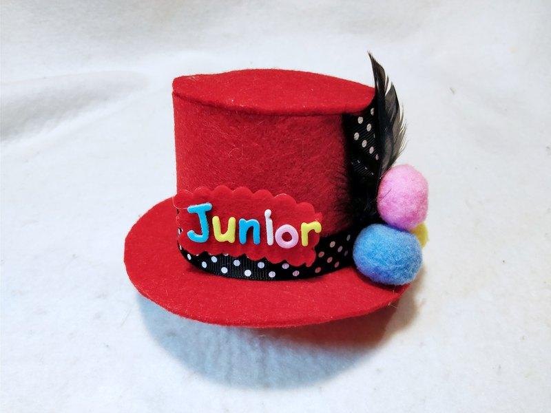 HANDMADE 寵物手作名字紳士㡌 生日帽寵物