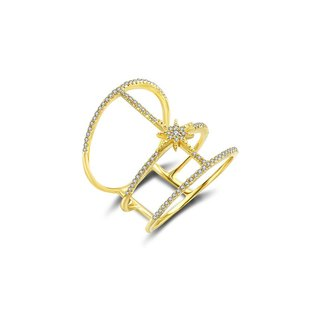 Triple line Star Diamond Ring