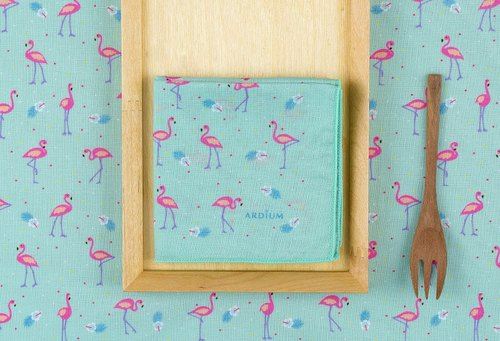 Ardium Nature Hanky ​​Handkerchief - Flamingo