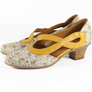 ITA BOTTEGA [Made in Italy] Floral low-cut lady's shoes