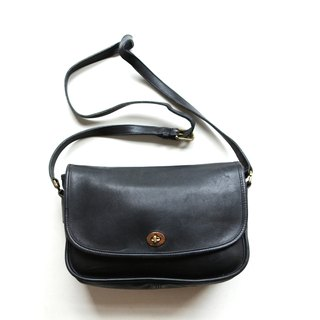 A ROOM MODEL - VINTAGE, BC-2552 COACH long black button party bag
