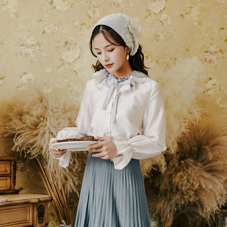Early autumn clothing new 2018 centuries retro fashion cuff lace long-sleeved shirt