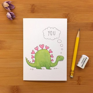 【LITTLE DIFFERENCE】STEGOSAURUS YOU GREETING CARD