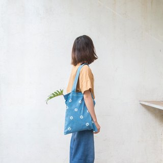 Dot Dot Dot | Natural indigo Tote Bag