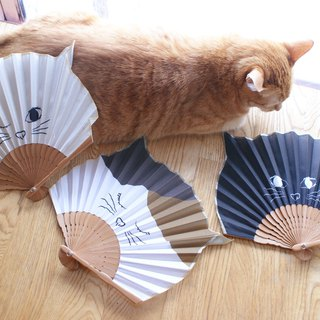 [DESTINO STYLE] Japan Nadi cat folding fan company goods cat slave holy goods cool summer essential