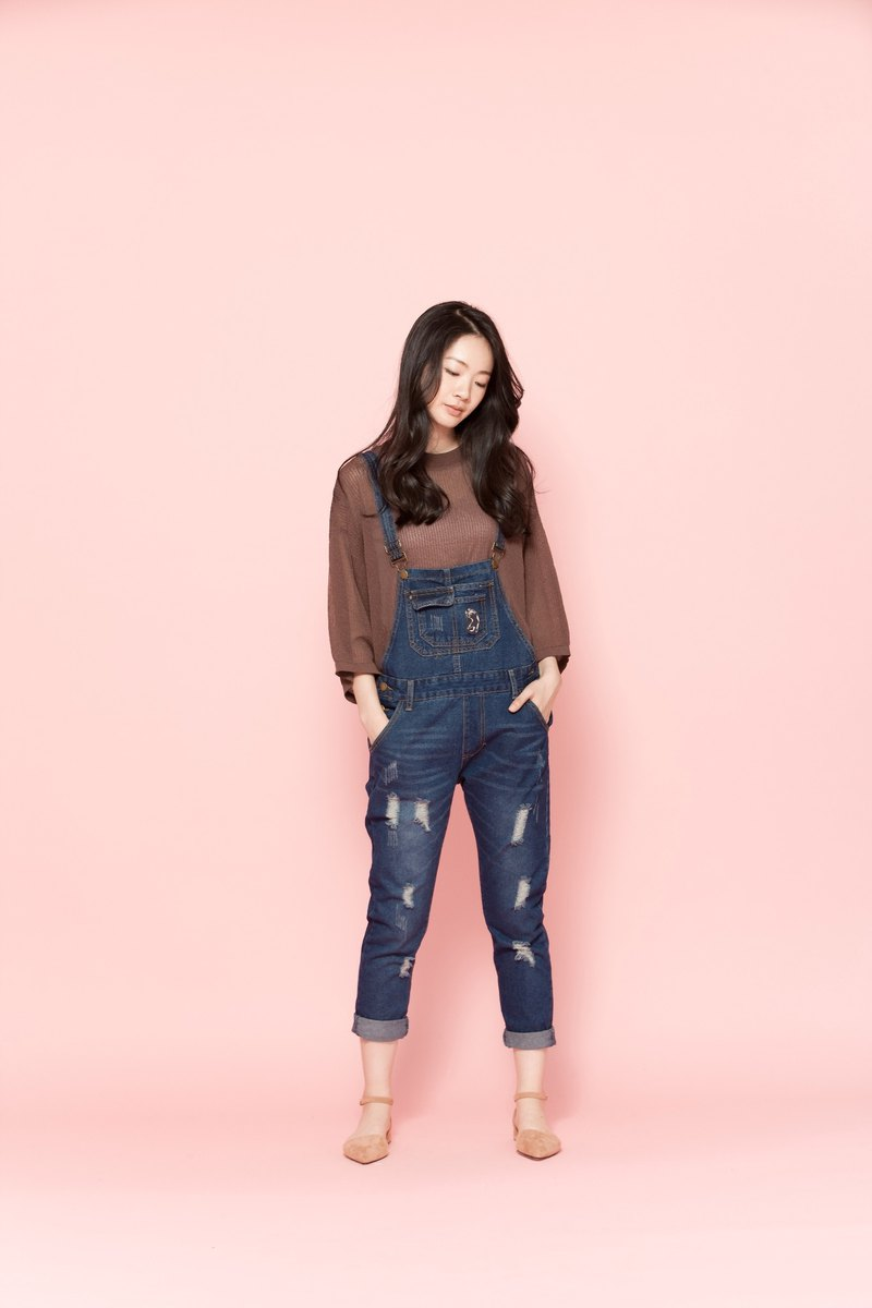 One-piece sling jeans 122920D