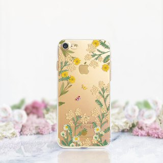 Butterfly clear phone case Floral iPhone x Case Samsung note8 case Galaxy s8plus