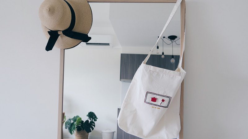 手工刺繡手提袋|兩用手提袋|棉布袋|情人節禮物