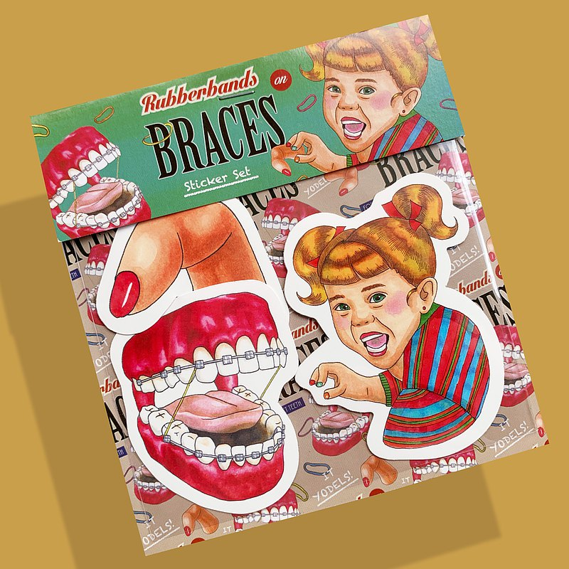 Playing with Braces - Sticker Set