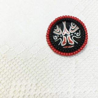 Black Face embroidery brooches Black Face Brooch (JEBR036)