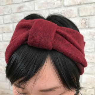 Knitted Fabric Ribbon Turban: Burgundy