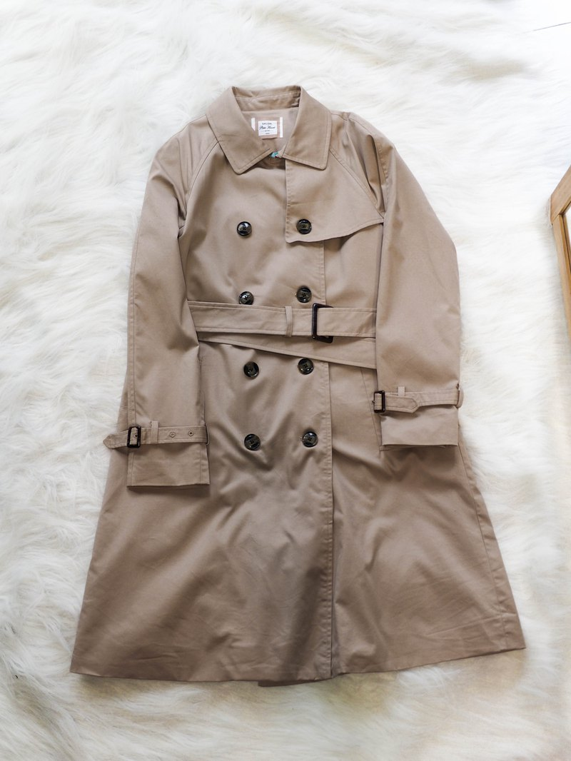 Kyoto khaki youth log antique thin windbreaker jacket trenchcoat dustcoat