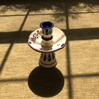 Early Mexican Ceramic Candlestick / Acacia