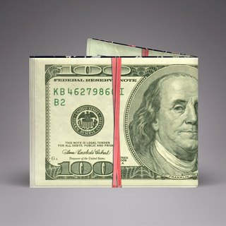 US dollar banknotes hand-made paper wallet / wallet / short clip Tyvek environmental protection material waterproof anti-tear