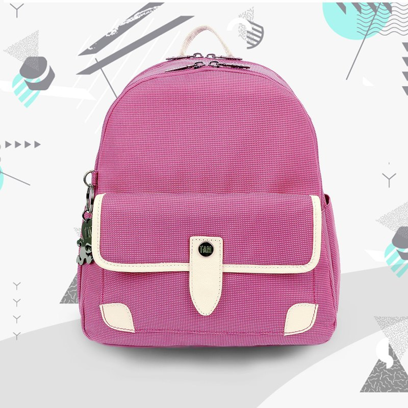 Free shipping I AM-LIBERTY Backpack - Pink Violet/Beige
