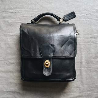 A ROOM MODEL - VINTAGE, COACH Black handle backpack / BC-2744