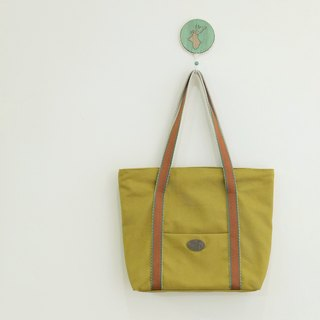 Oz Japan COSMO water repellent canvas a small pocket green horseradish Tote