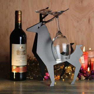 【OPUS Metalart】European Chic Metal Reindeer Wine Rack / Metal Home Bar Ornaments