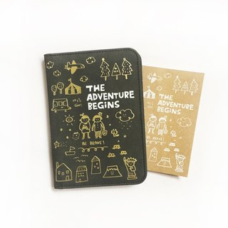 The Adventure Begins series passport folder _ Mocha black