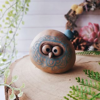 C-20 Owl 陶铃 ornaments │Yoshino Hawk x Office Healing Small Pure Handmade Pottery Design 文镇Bell 铛可爱独独一无二 Gift