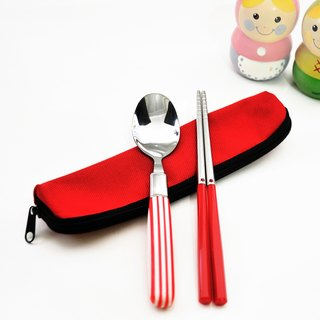 Taiwan's first chopsticks. Candy cane cutlery set. Small pieces of chopsticks group