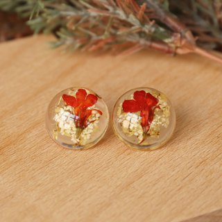 Japanese handmade ornaments - dried flower earrings