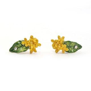 Fragrant Olive Pierced Kinmokusei Earrings PA 452