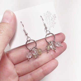 Puputraga Shangcai Caihua life/personity titanium crystal silver monologue mini earrings