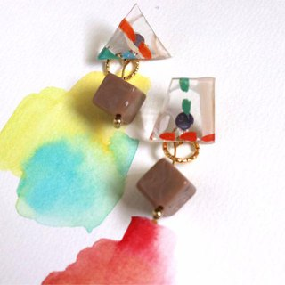 What to Eat for Breakfast - Hand-painted Summer Clear Ear Earrings (Pure Tremella Needles)