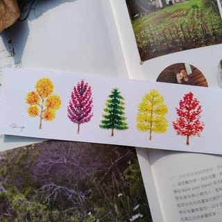 Little Trees - Watercolor Bookmark Print