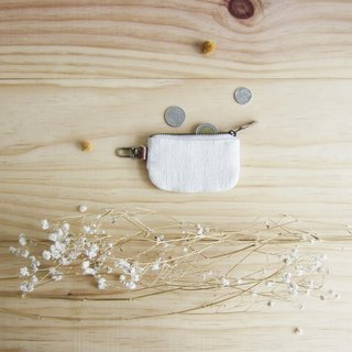 Little Coin Purses Hand Woven and Botanical Dyed Cotton Natural Color 拉链钱包