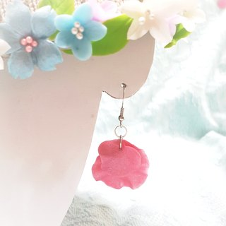 Pearl pink flower earrings do