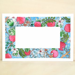 【Original】Hand Drawn Water Colour Flower Message Card【#001】