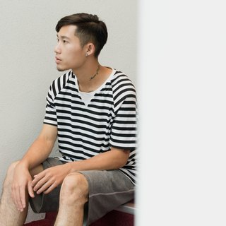hao Striped Crew Neck Shirts