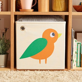 USA kaikai & ash Toy Storage Box - Forest Bird (Orange)