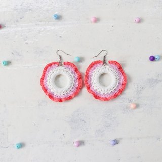 Handmade Red Cheeks Earrings Unicorn Style - Grapefruit Unicorn