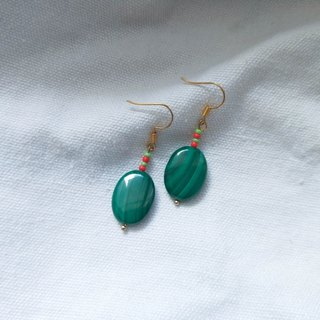Peace Malachite Earrings