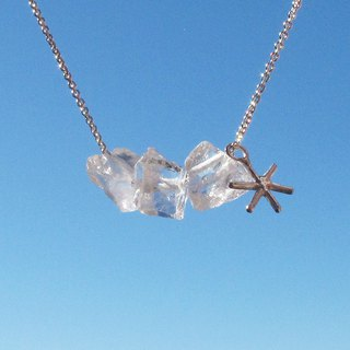 Limited - Sugar White snowflake quartz sterling silver necklace